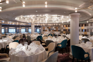 Crystal Serenity cruise ship Waterside dining room