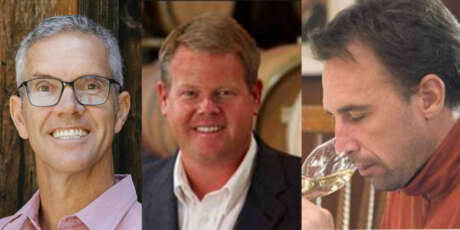 Vintner Hugh Davies, Mike Reynolds and Craig Roemer