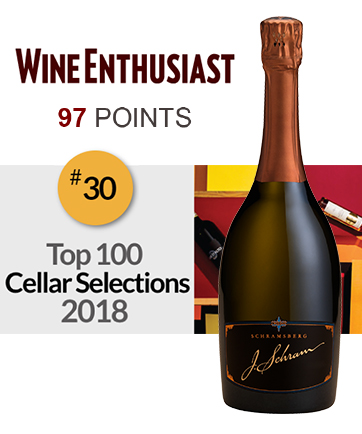 Wine Enthusiast awards Schramsberg's 2009 J. Schram 97 Points and #30 on it's Top 100 Cellar Selections 2018.