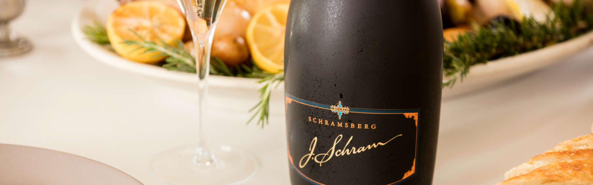 J. Schram paired with rosemary lemon chicken