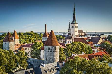 Town of Tallinn in Estonia