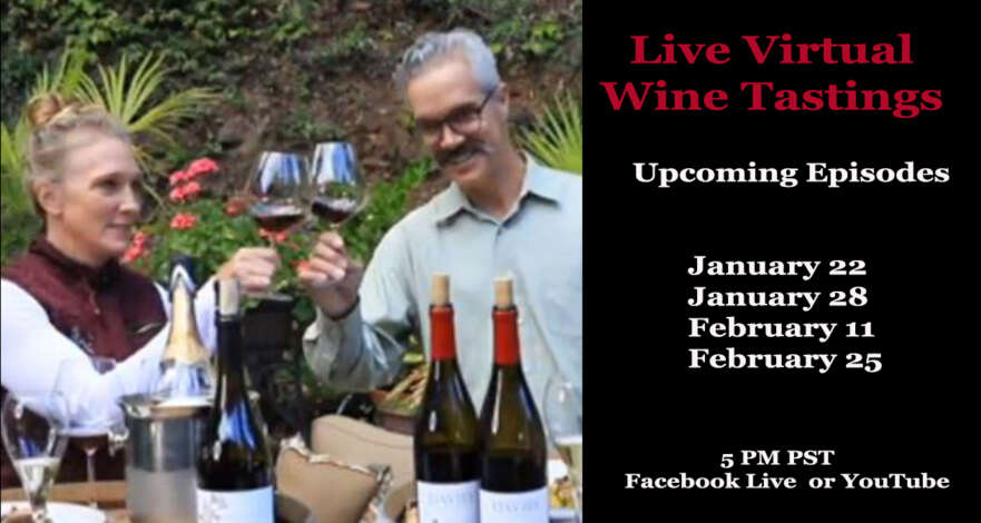 Live Virtual Tastings on Facebook Live and YouTube