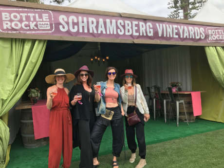 Visitors to Schramsberg Cabana at Bottlerock