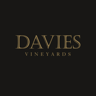 Davies Vineyards gold logo on black background