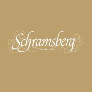 Schramsberg white logo on gold background